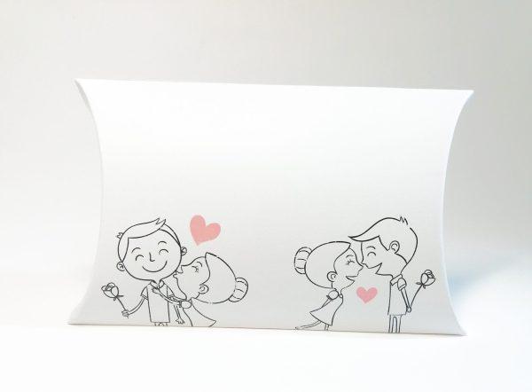 cutii pillow box cu motive lavanda