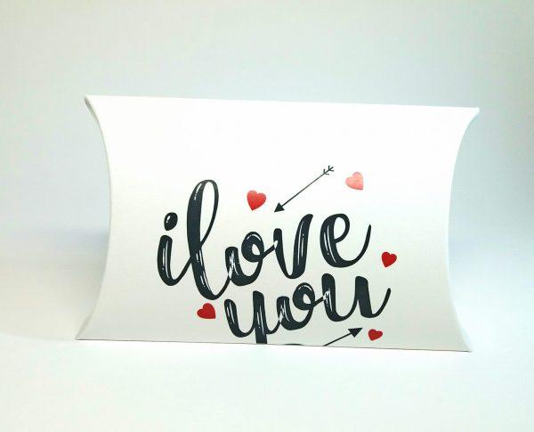 cutii pillow box cu motive ziua indragostitilor