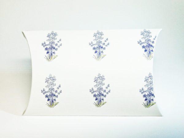 cutii pillow box motive florale, lavanda