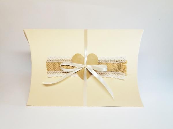 Cutii pillow box model rustic