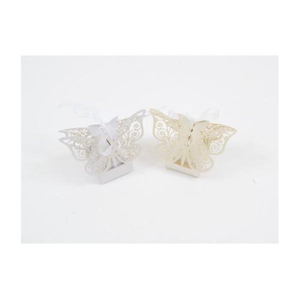 Cutiute in forma de fluture pentru marturii nunta